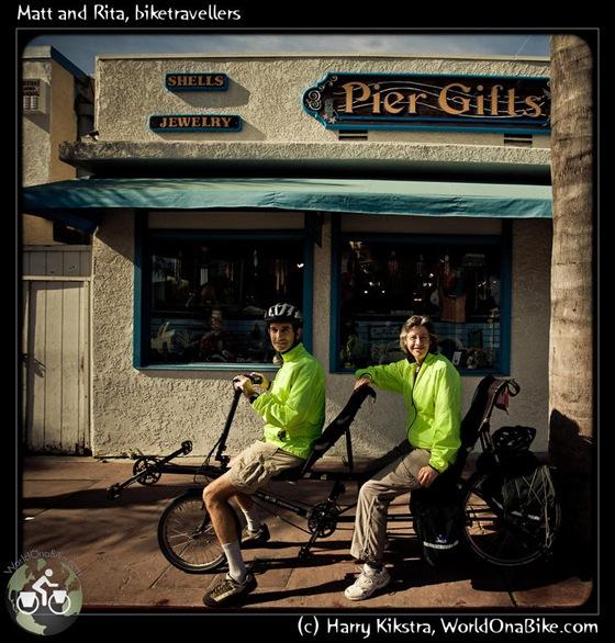 Matt and Rita, biketravellers