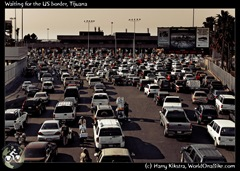 Waiting for the US border, Tijuana