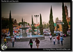 Puebla fair and fountain