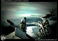 Pablito and Pedrito, summit of Pico de Orizaba