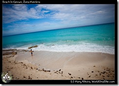 Beach in Cancun, Zona Hotelera
