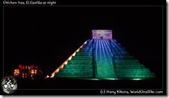 Chichen Itza, El Castillo at night