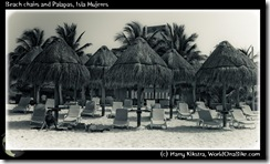 Beach chairs and Palapas, Isla Mujeres