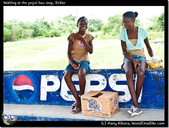 Waiting at the pepsi bus stop, Belize