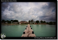 Sarteneja from dock, Belize
